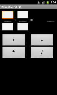 Fraction Calculator Free- screenshot thumbnail