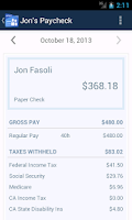 Screenshot of Online Payroll