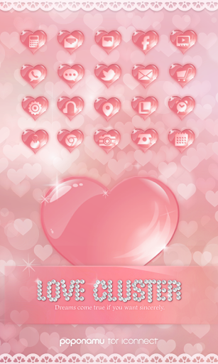 Love Cluster icon theme