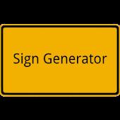 Sign Generator