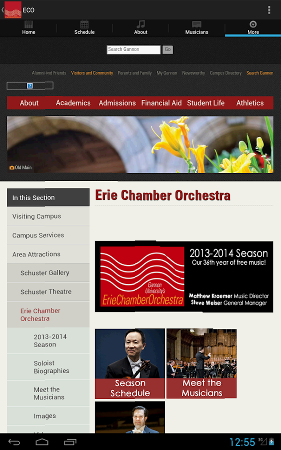 ErieChamberOrchestra - screenshot