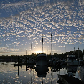 Sunset Newport Water Front 7-14 by Bill Waterman - Landscapes Waterscapes