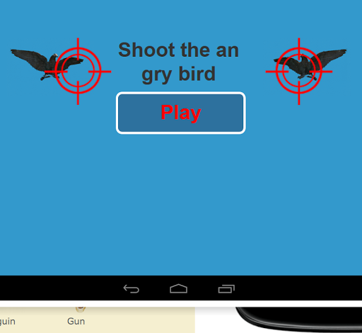 Shoot the angry bird
