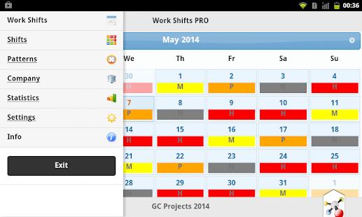 Work Shifts PRO