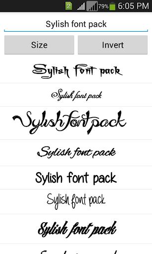 Stylish Fonts 1.14 screenshots 3