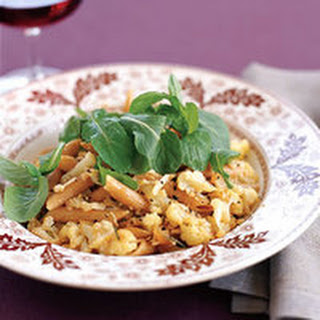 Whole Wheat Penne with Cauliflower Sauce.