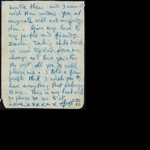 Love letter from Joseph Plunkett to his fiancée Grace Gifford