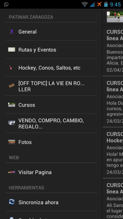 Patinar Zaragoza - screenshot
