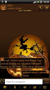How to install Halloween 2 theme GO SMS Pro 1.01 apk for laptop