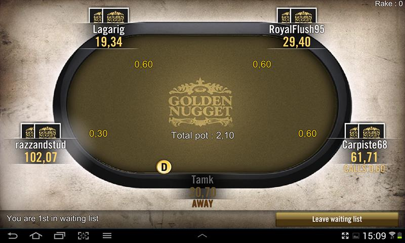 Golden Nugget Poker- screenshot