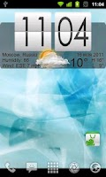 Screenshot of Live Wallpaper Flip Clock Tria