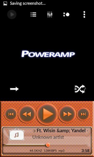 Poweramp Skin Orange Carbon