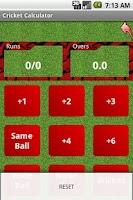 Screenshot of Cricket Calculator
