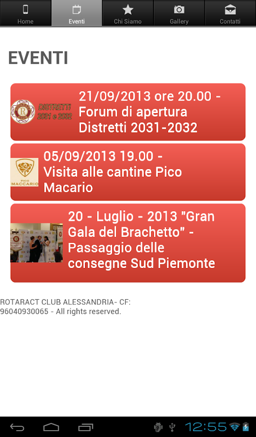 Rotaract Club Alessandria - screenshot
