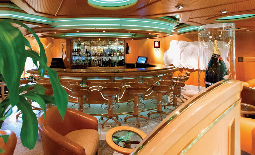 Adventure-of-the-Seas-Diamond-Lounge - Access to the Diamond Lounge is reserved for Diamond-level and above members of the Crown & Anchor Society, Royal Caribbean's loyalty program.