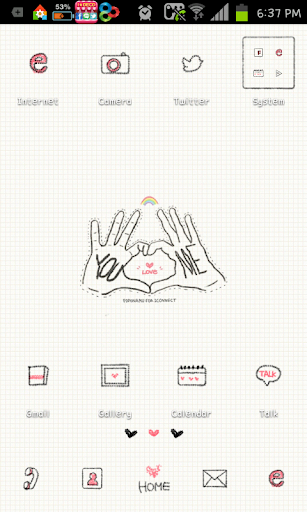 You love me go launcher theme
