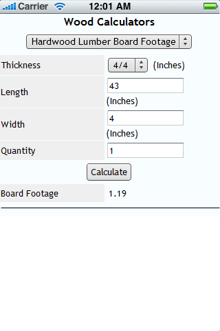 Wood calculators android apps on google play for How to calculate board feet in a tree