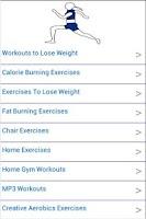 Screenshot of Fat Burning Exercises