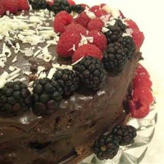Deep Chocolate Raspberry Cake.