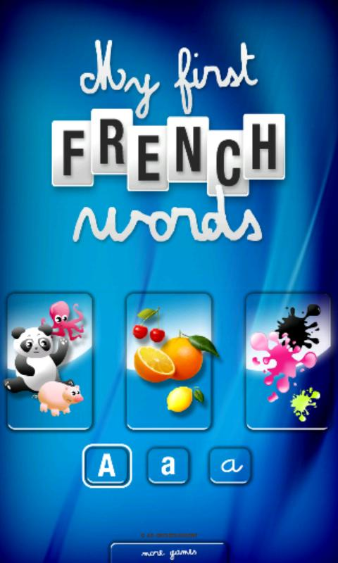 My first French words- screenshot