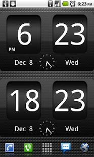 FlipClock BlackOut Widget 4x2 - screenshot thumbnail