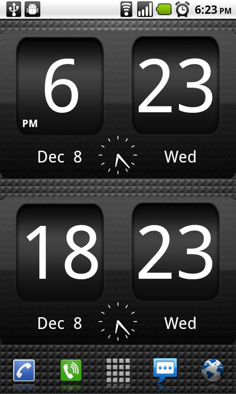 FlipClock BlackOut Widget 4x2 - screenshot