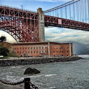 by Dorothy Valine Gram - Buildings & Architecture Bridges & Suspended Structures ( golden gate bridge )