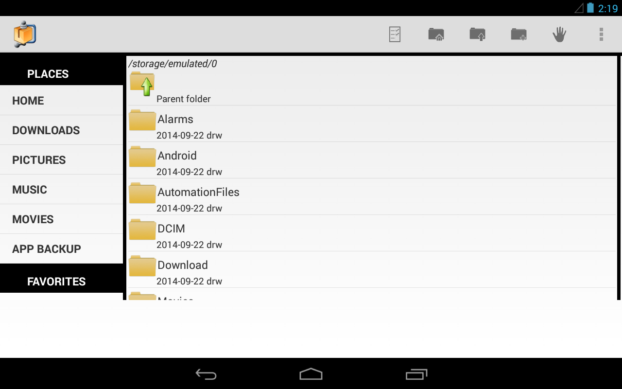 AndroZip™ FREE File Manager - screenshot