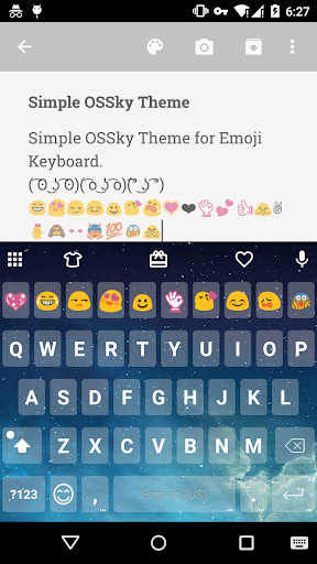 Simple OS Sky Keyboard