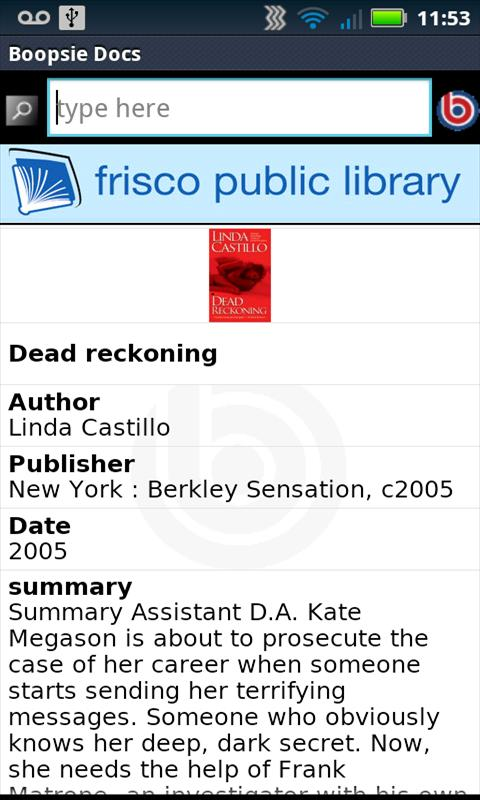 Frisco Public Library - screenshot