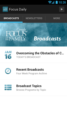 Daily Broadcast App