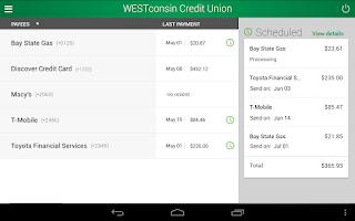 Screenshot of WESTconsin Credit Union