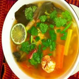 Vegetable Tom Yum Soup.