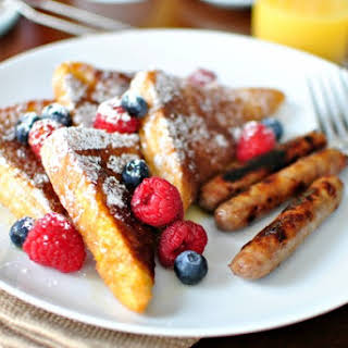 Cinnamon and Sugar Crusted French Toast.