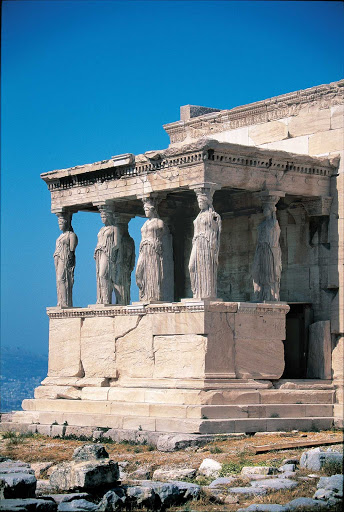 Athens-Greece-Caryatids - Visit the Erechtheion, the beautiful ancient temple at the Acropolis in Athens, when cruising Greece on Norwegian Cruise Line.