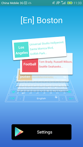 Boston dictionary for TouchPal