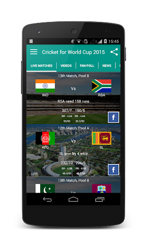 Cricket App for World Cup 2015