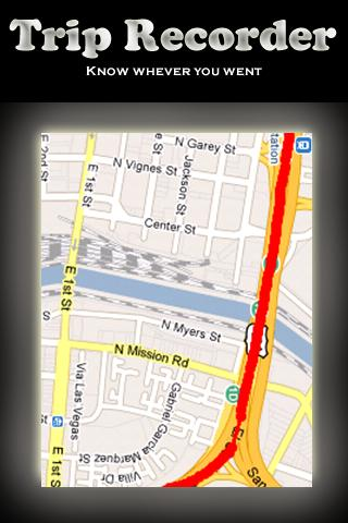 GPS logger / Trip recorder - screenshot