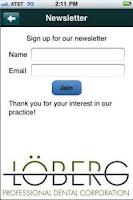 Screenshot of Loberg Professional Dental Cor