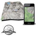 LAKE GARDA mountain range map