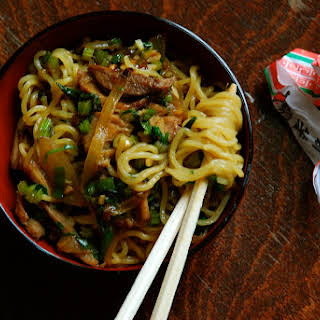 Shredded Pork and Chinese Celery Lo Mein.