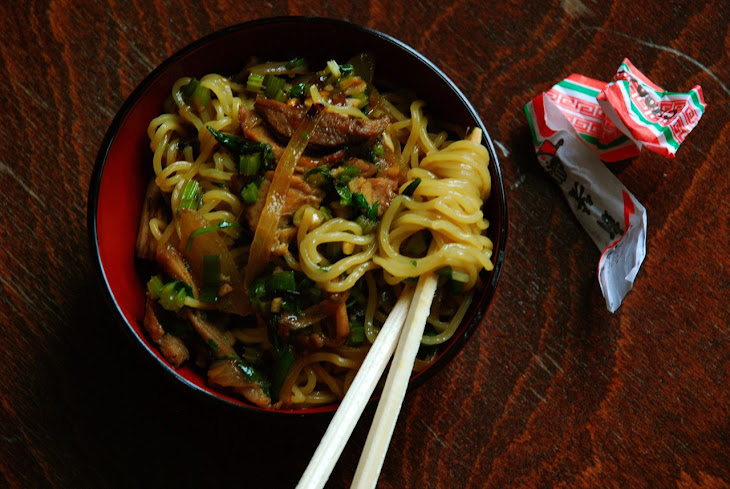 Shredded Pork and Chinese Celery Lo Mein Recipe