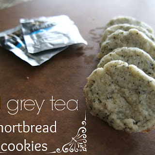 Earl Grey Tea Shortbread Cookies (vegan)