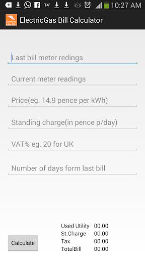 Utility Bill Calculator