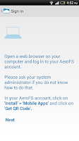 Screenshot of AeroFS