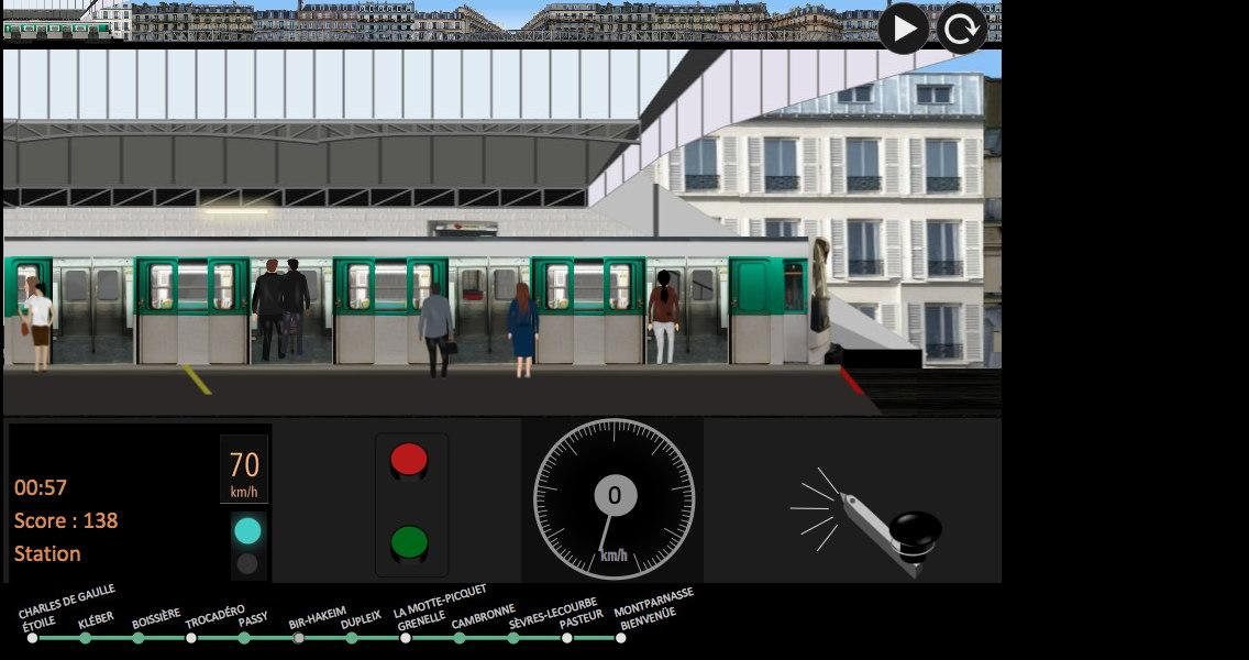Paris Métro Simulator – Capture d'écran