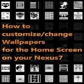 How to chg Nexus 7 Wallpapers