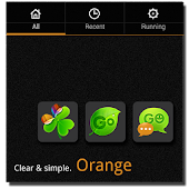 Orange Clear GO Launcher theme