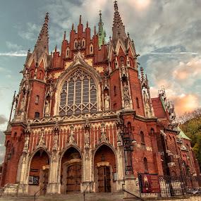 by Ján Hrmo - Buildings & Architecture Places of Worship ( polsko, kostol krakow )