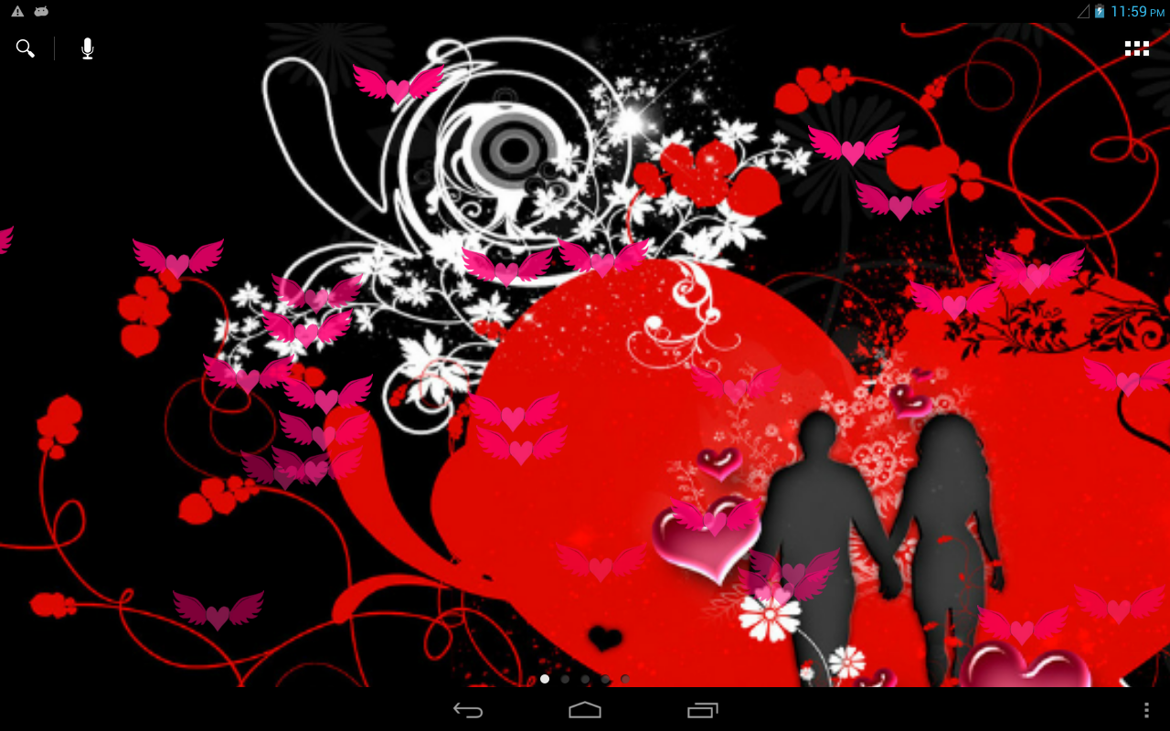 valentine love live wallpaper free screenshot - Live Valentine Wallpaper